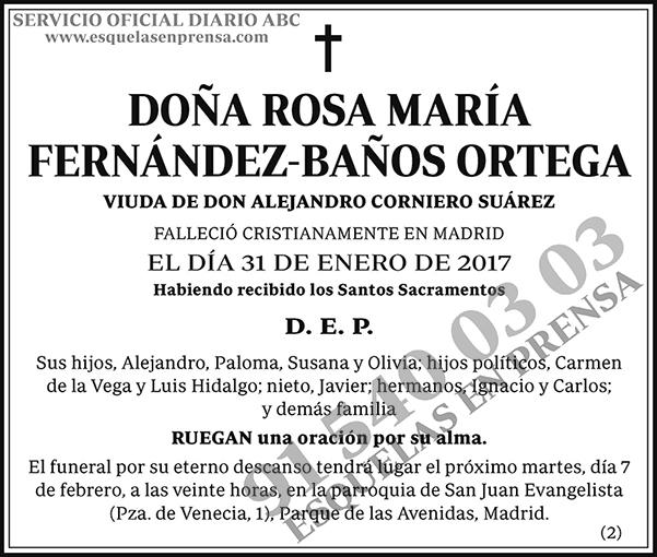Rosa María Fernández-Baños Ortega